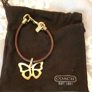 Jewelry - Brand new leather coach bracelet with butterfly
